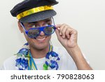 black man is dressed as a... | Shutterstock . vector #790828063