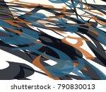abstract vector background.... | Shutterstock .eps vector #790830013