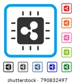 ripple processor chip icon....