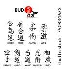 aikido  kendo  iaido  sumo ... | Shutterstock .eps vector #790834633