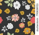 oriental style floral print.... | Shutterstock .eps vector #790838953