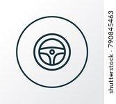 steering wheel icon line symbol.... | Shutterstock .eps vector #790845463