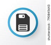 floppy disk icon symbol....   Shutterstock .eps vector #790845643