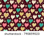 seamless vector pattern with... | Shutterstock .eps vector #790859023