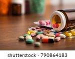 drug prescription for treatment ... | Shutterstock . vector #790864183