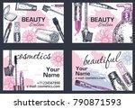 beauty salon  makeup artist... | Shutterstock .eps vector #790871593