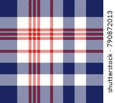 plaid check pattern in red ... | Shutterstock .eps vector #790872013