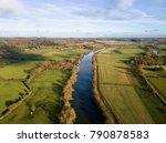 river thames aerial photo in... | Shutterstock . vector #790878583