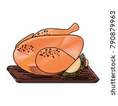 roast chicken design | Shutterstock .eps vector #790879963