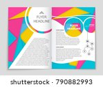 abstract vector layout... | Shutterstock .eps vector #790882993