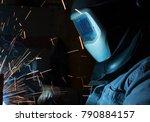 welder  craftsman  erecting... | Shutterstock . vector #790884157