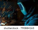 welder  craftsman  erecting... | Shutterstock . vector #790884163