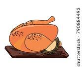 roast chicken design | Shutterstock .eps vector #790884493