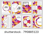 abstract vector layout... | Shutterstock .eps vector #790885123