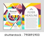 abstract vector layout... | Shutterstock .eps vector #790891903