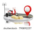 3d illustration. motorbike with ... | Shutterstock . vector #790892257