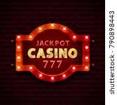 casino banner text on the... | Shutterstock .eps vector #790898443