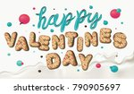 happy valentines day. creative... | Shutterstock .eps vector #790905697
