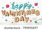 happy valentines day. creative... | Shutterstock .eps vector #790905697