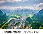 guilin  guangxi  china karst... | Shutterstock . vector #790913143