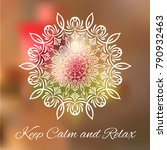 hand drawn mandala design... | Shutterstock .eps vector #790932463