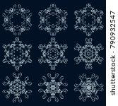calligraphic round ornament... | Shutterstock .eps vector #790932547