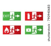 vector fire emergency icons.... | Shutterstock .eps vector #790940683
