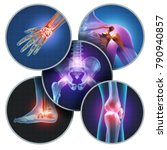 human painful joints concept... | Shutterstock . vector #790940857