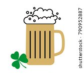 glass of beer. vector mug of... | Shutterstock .eps vector #790952887