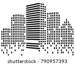 abstact city of skyscrapers....   Shutterstock .eps vector #790957393