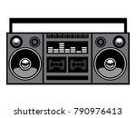 retro vintage stereo... | Shutterstock .eps vector #790976413