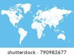 world map vector   Shutterstock .eps vector #790982677