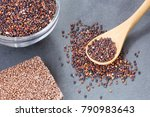 seeds and cereal bar of black... | Shutterstock . vector #790983643