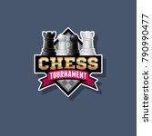 chess tournament logo. chess... | Shutterstock .eps vector #790990477