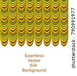 gold theather silk fabric...   Shutterstock .eps vector #790991977