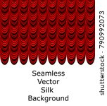 red theater silk fabric drapery ...   Shutterstock .eps vector #790992073