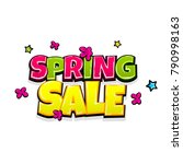 low price spring sale comic... | Shutterstock .eps vector #790998163