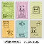 collection of sale banners ... | Shutterstock .eps vector #791011687