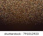 gold random falling foil... | Shutterstock .eps vector #791012923
