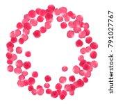 rose petals border invitation... | Shutterstock .eps vector #791027767
