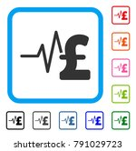 pound financial pulse icon.... | Shutterstock .eps vector #791029723
