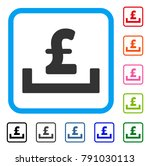 pound deposit placement icon....   Shutterstock .eps vector #791030113