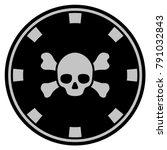 skull crossbones black casino...   Shutterstock .eps vector #791032843