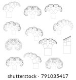 flat vector computer generated  ... | Shutterstock .eps vector #791035417