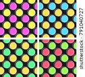 flat line circle pattern vector   Shutterstock .eps vector #791040727