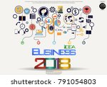 text  idea business 2018  ... | Shutterstock .eps vector #791054803