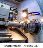 cnc lathe machine  turning... | Shutterstock . vector #791059237