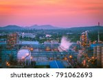 petroleum and chemical refinery ...   Shutterstock . vector #791062693