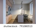 kitchen in a modern style with... | Shutterstock . vector #791080513