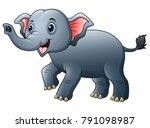 cute elephant cartoon | Shutterstock .eps vector #791098987